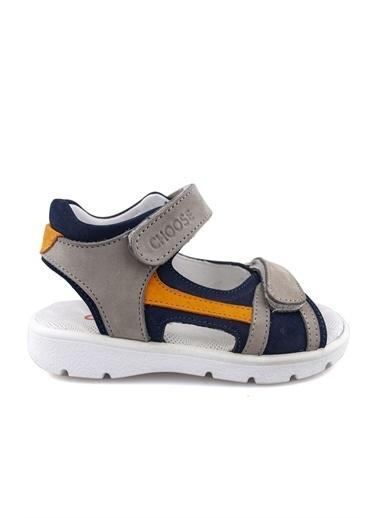 Cici Bebe Ayakkabı Nubuk Erkek Çocuk Sandalet Lacivert